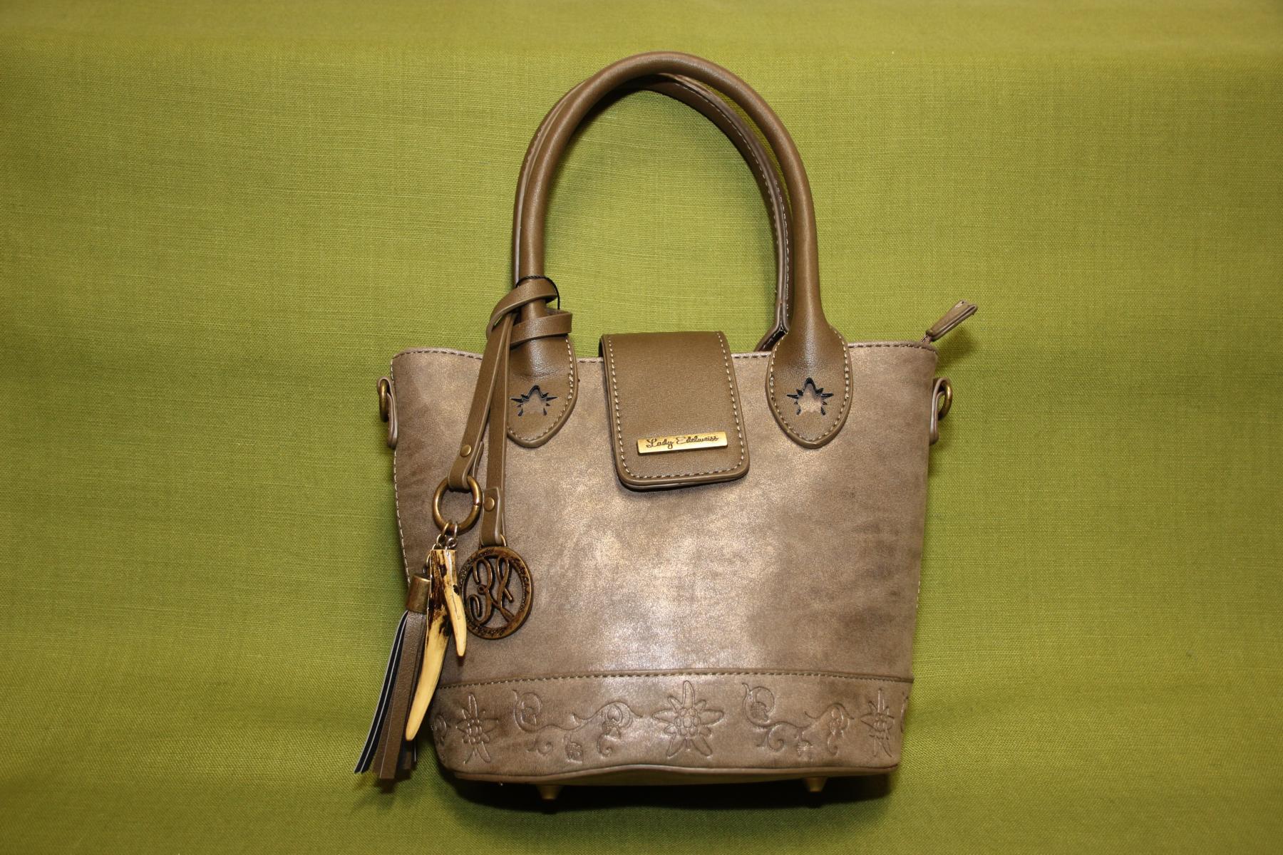 Trachtentasche - mit Prägung-Edelweiss